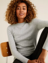 """<p><a class=""""link rapid-noclick-resp"""" href=""""https://go.redirectingat.com?id=127X1599956&url=https%3A%2F%2Fwww.marksandspencer.com%2Fsoft-touch-brick-stitch-crew-neck-jumper%2Fp%2Fclp60458472&sref=https%3A%2F%2Fwww.redonline.co.uk%2Ffashion%2Fshopping%2Fg34625942%2Fmarks-and-spencer-womenswear-sale%2F"""" rel=""""nofollow noopener"""" target=""""_blank"""" data-ylk=""""slk:SHOP HERE"""">SHOP HERE </a><strong>Was £25, Now £17.50</strong></p><p>Available in seven gorgeous colours, this chic textured jumper is fitted for a snug, flattering look whether you're inside or out. </p>"""