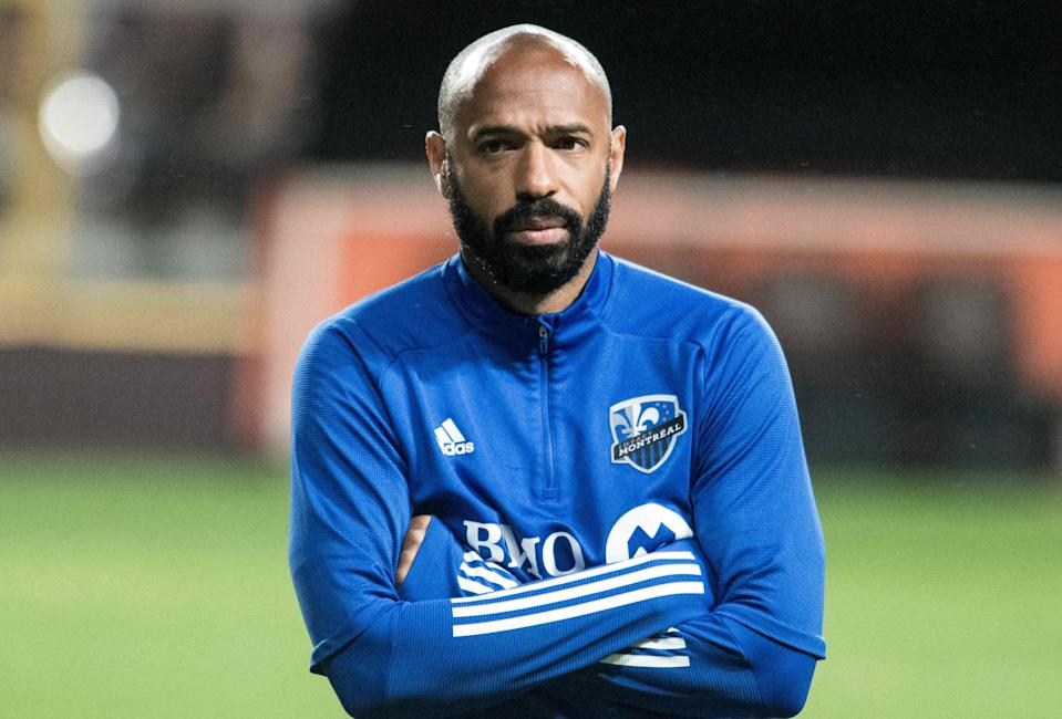 Thierry Henry during his time as head coach of the Montreal Impact in February 2020.