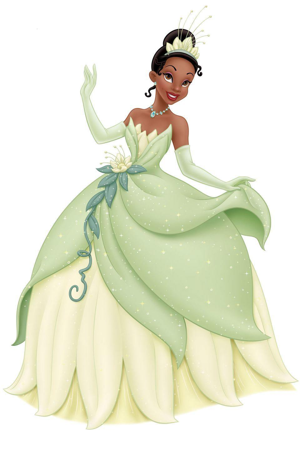 <p>Disney's 2009 movie <em>The Princess and the Frog</em> features Tiana, an aspiring chef in New Orleans who marries into royalty.</p>