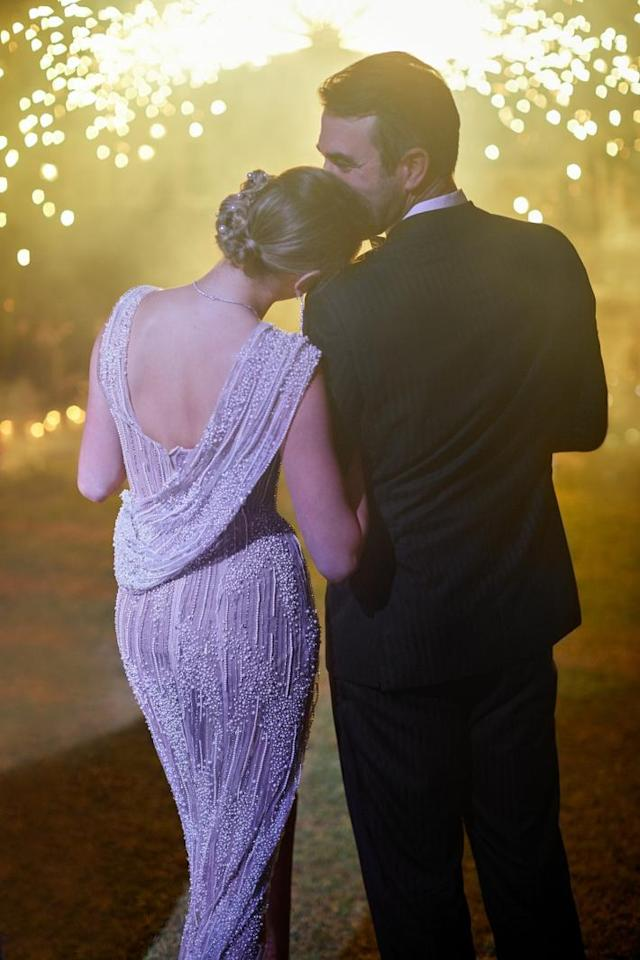 The model and the Houston Astros pitcher wed in Italy in November, shortly after Verlander and the Houston Astros won the 2017 World Series, and the newlyweds shared from their big night pics and details with 'Vogue.'