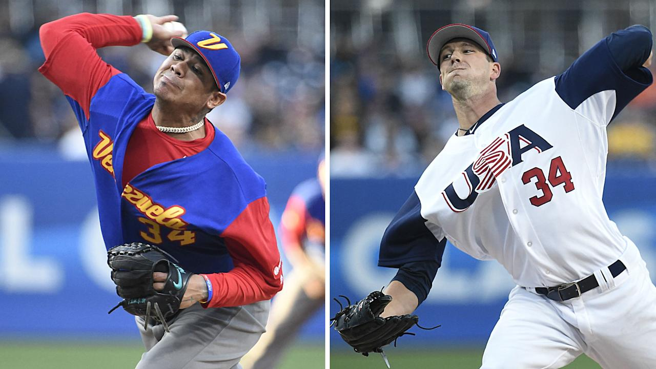 Seattle rotation mates Felix Hernandez and Drew Smyly produced a mini-pitchers' duel during Venezuela-USA at San Diego's Petco Park. The M's could use big seasons from both.