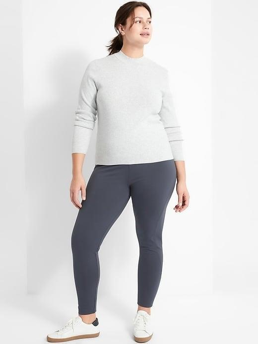 <p>While these <span>Banana Republic High-Rise Ponte Legging</span> ($70) are a pull-on style, there <i>is</i> a hidden zippered pocket at the back for your phone, cash, or keys as needed. </p>