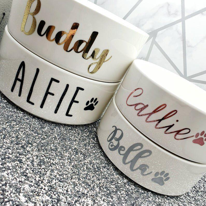 "<a href=""https://fave.co/2RIdaEe"" target=""_blank"" rel=""noopener noreferrer"">Personalised Pet Bowl, Kayleigh&rsquo;s Keepsake, via Not On the High Street</a>, &pound;9.99 (Photo: HuffPost UK)"