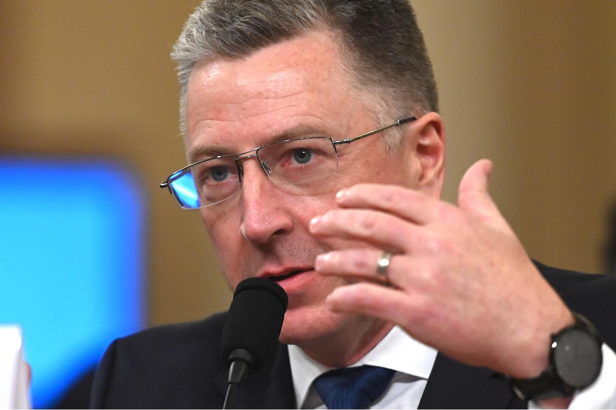 Former U.S. Special Envoy for Ukraine Kurt Volker testifies during the House Intelligence Committee hearing on Nov. 19, 2019. (Photo: ANDREW CABALLERO-REYNOLDS via Getty Images)