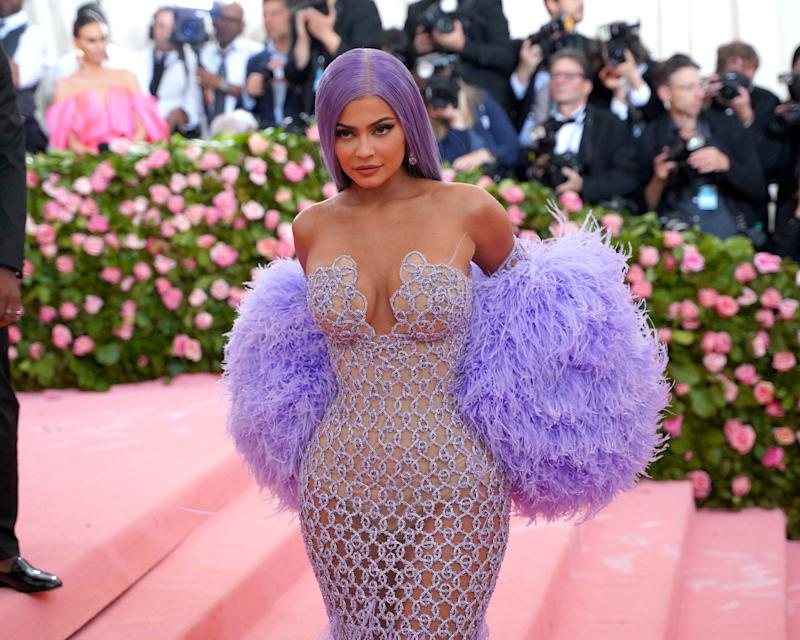 """NEW YORK, NY - MAY 6: Kylie Jenner attends The Metropolitan Museum Of Art's 2019 Costume Institute Benefit """"Camp: Notes On Fashion"""" at Metropolitan Museum of Art on May 6, 2019 in New York City. (Photo by Sean Zanni/Patrick McMullan via Getty Images)"""