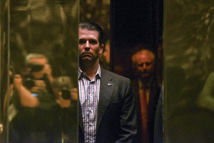 Donald Trump Jr. arrives at Trump Tower in New York City, U.S. January 18, 2017. REUTERS/Stephanie Keith