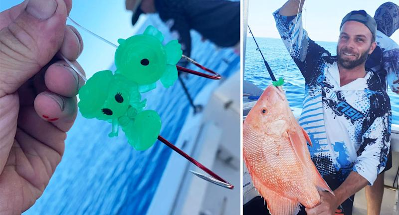 Mark Pace has had success using Ooshies as tackle on his fishing hooks. Source: Facebook