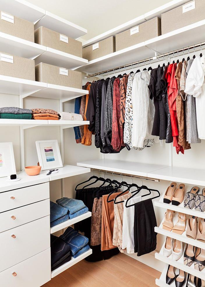 Well-organized closets and cupboards inside the real home offer ample inspiration to the average homeowner.