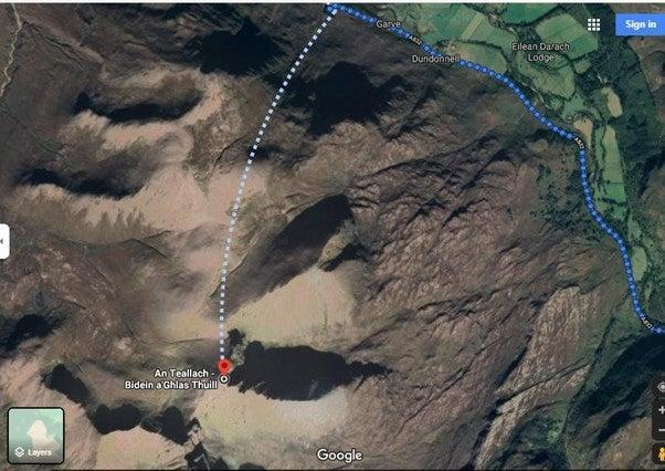 The route up An Teallach goes over a cliff, the charities said (Mountaineering Scotland/PA)