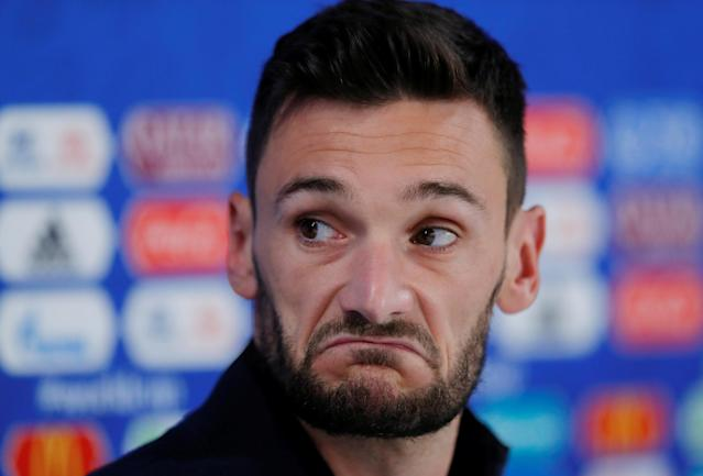 Soccer Football - World Cup - France Press Conference - Ekaterinburg Arena, Yekaterinburg, Russia - June 20, 2018 France's Hugo Lloris during the press conference REUTERS/Andrew Couldridge
