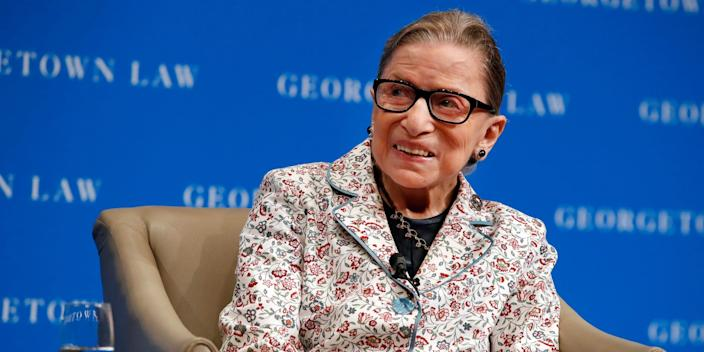 Supreme Court Justice Ruth Bader Ginsburg taking questions from first-year students at Georgetown Law on September 26.