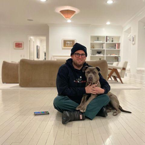 """<p>""""Thank you so much @loveleorescue you gave me a massive gift and I appreciate you and the work you and your foster parent volunteers do ❤️🏄♂️"""" Jonah wrote in January 2021 after rescuing a pup.<br></p><p><a href=""""https://www.instagram.com/p/CJ5ARn_lasd/"""" rel=""""nofollow noopener"""" target=""""_blank"""" data-ylk=""""slk:See the original post on Instagram"""" class=""""link rapid-noclick-resp"""">See the original post on Instagram</a></p>"""