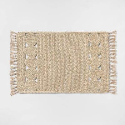 <p>Place this <span>Ornate Braided Rug</span> ($15) near the entryway.</p>