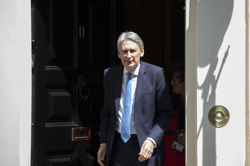 Chancellor of the Exchequer Philip Hammond departs Downing Street for the House of Commons in Central London,UK on July 3, 2019. (Photo by Claire Doherty/Sipa USA)