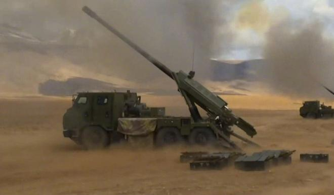 The PCL-181 advanced vehicle-mounted howitzer is among the weapons China has sent to the Tibetan plateau. Photo: Handout