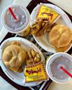 """<p>While supplies last, Bojangles' is offering the BojAngler fish sandwich, which can be purchased alone, as a combo meal, as part of a two for $5 promo, or as a dinner plate special.</p><p><a href=""""https://www.instagram.com/p/B9IBIDzjBMj/"""" rel=""""nofollow noopener"""" target=""""_blank"""" data-ylk=""""slk:See the original post on Instagram"""" class=""""link rapid-noclick-resp"""">See the original post on Instagram</a></p>"""