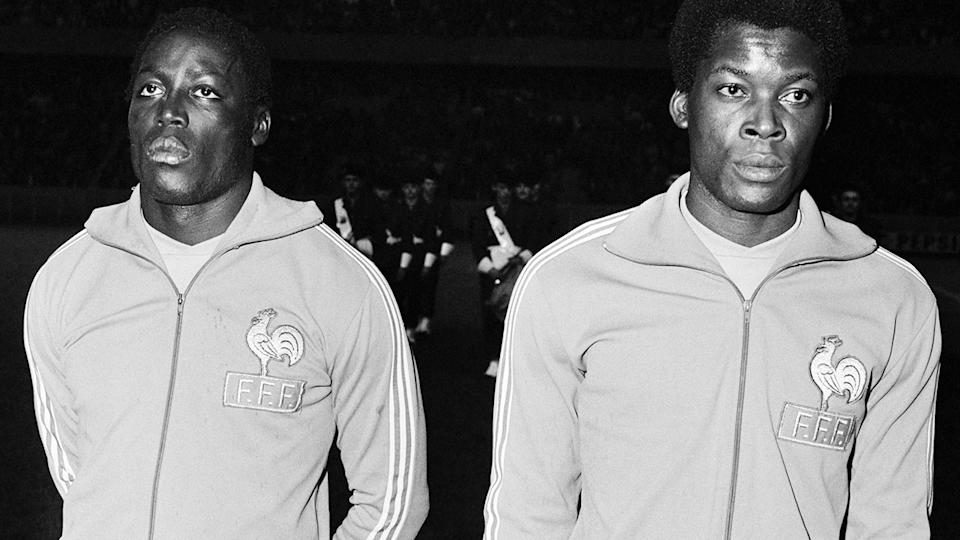 Jean-Pierre Adams and Marius Tresor, pictured here in action for France.