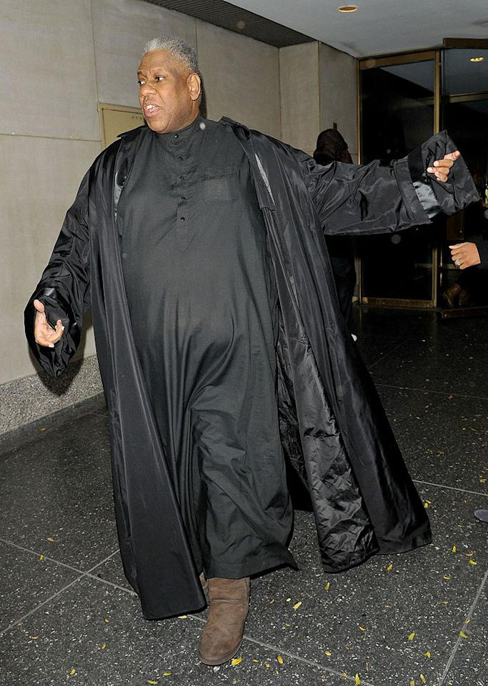 "Former Vogue editor Andre Leon Talley at the ""Today"" show in New York City"