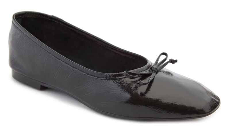 Schutz Arissa Square Toe Ballet Flat in Black