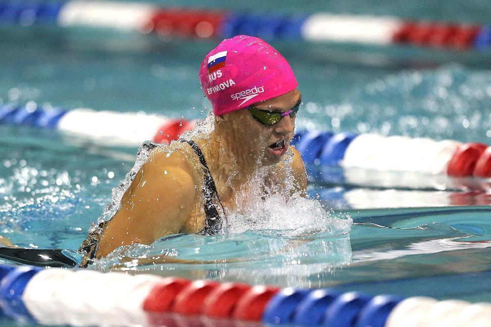 ORLANDO, FL - MARCH 04: Yuliya Efimova swims in the Women's 200 meter breaststroke final during day two of the Arena Pro Swim Series at the YMCA of Central Florida Aquatic Center on March 4, 2016 in Orlando, Florida. Alex Menendez/Getty Images/AFPORLANDO, FL - MARCH 04: Yuliya Efimova swims in the Women's 200 meter breaststroke final during day two of the Arena Pro Swim Series at the YMCA of Central Florida Aquatic Center on March 4, 2016 in Orlando, Florida. Alex Menendez/Getty Images/AFP (AFP Photo/Alex Menendez)