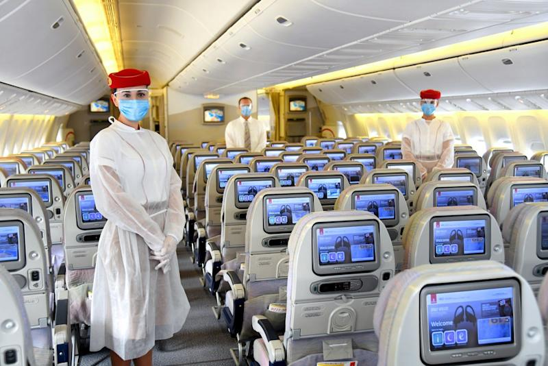 Emirates staff personal protective equipment