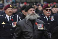 Veterans participate in the National Remembrance Day Ceremony at the National War Memorial in Ottawa, Monday, November 11, 2019. (THE CANADIAN PRESS/Adrian Wyld)