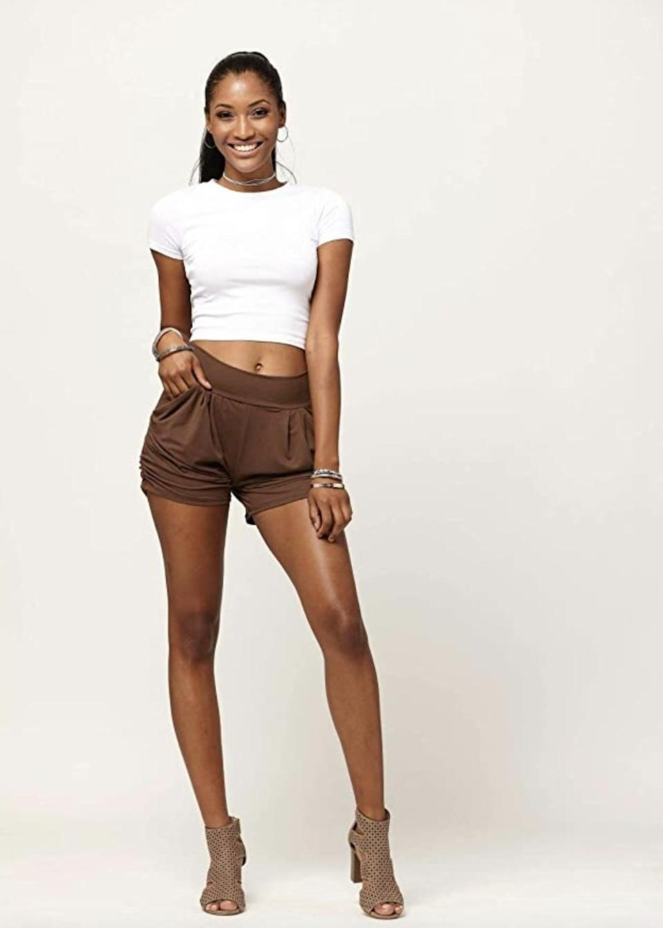 <p>If you're looking for something with a tighter fit, try these <span>Conceited Harem Shorts </span> ($19). </p>