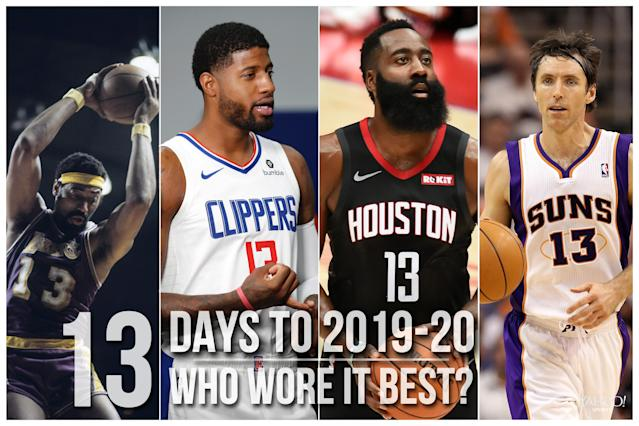 Which NBA player wore No. 13 best?