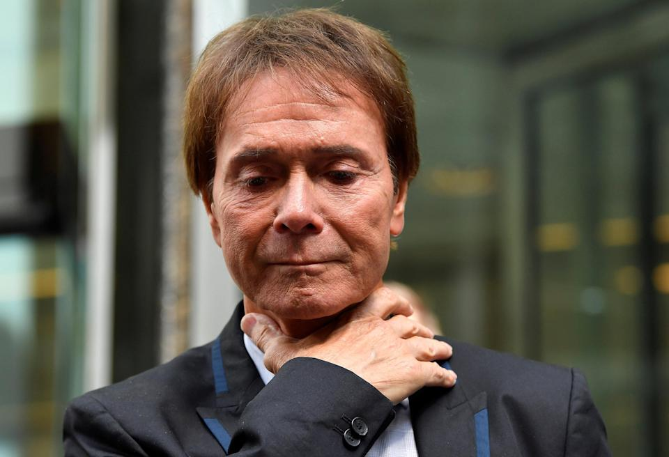 """<em>Choked up – Cliff Richard said his privacy case victory was """"wonderful news"""" (Picture: Reuters)</em>"""
