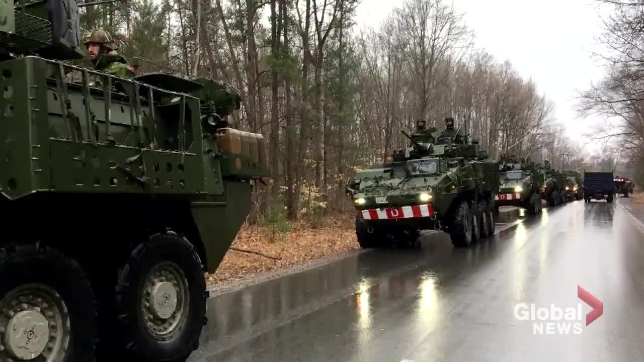 Canadian military members arrive in Ottawa community to help with flood  relief