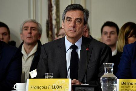 Francois Fillon, former French prime minister, member of The Republicans political party and 2017 presidential election candidate of the French centre-right, attends a meeting at the city hall in Tourcoing