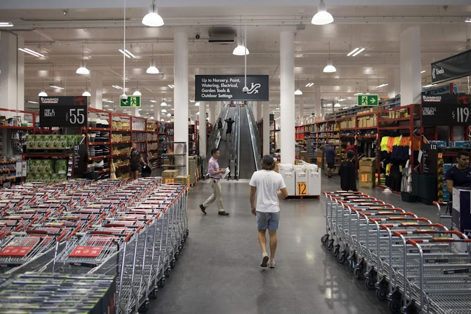 Customers shop at a Bunnings Warehouse store, operated by Wesfarmers Ltd., in Sydney, Australia.
