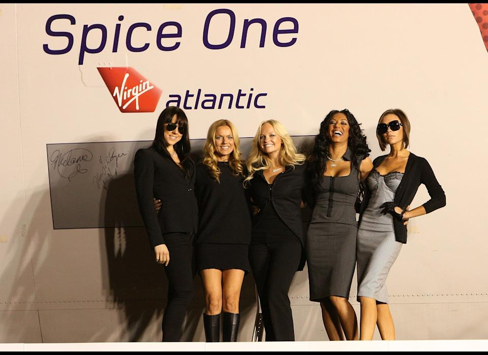 <strong>2007</strong>  The Spice Girls unveil the new name, Spice One, of a Virgin Atlantic Jet at the Flight Path Museum at Los Angeles Airport