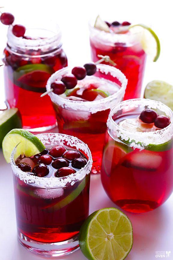 "<p>Margaritas aren't just for the summertime.</p><p>Get the recipe from <a href=""http://www.gimmesomeoven.com/cranberry-margaritas/"" rel=""nofollow noopener"" target=""_blank"" data-ylk=""slk:Gimme Some Oven"" class=""link rapid-noclick-resp"">Gimme Some Oven</a>.</p>"