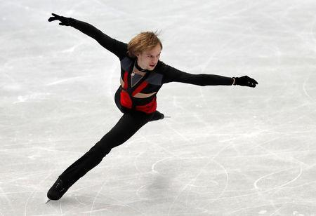 Figure Skating - ISU Grand Prix of Figure Skating NHK Trophy - Men's Short Program - Osaka, Japan - November 10, 2017 - Sergei Voronov of Russia in action. REUTERS/Kim Kyung-Hoon