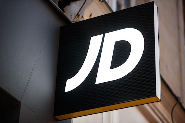 The logo JD sports on the front facade of a shop in the city of Caen, northwestern of France. Photo: SAMEER AL-DOUMY/AFP via Getty Images