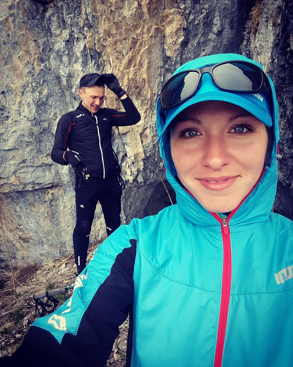 Elena Rukhlyada is pictured posing for a selfie during a mountain hike. Source: CEN/Australscope