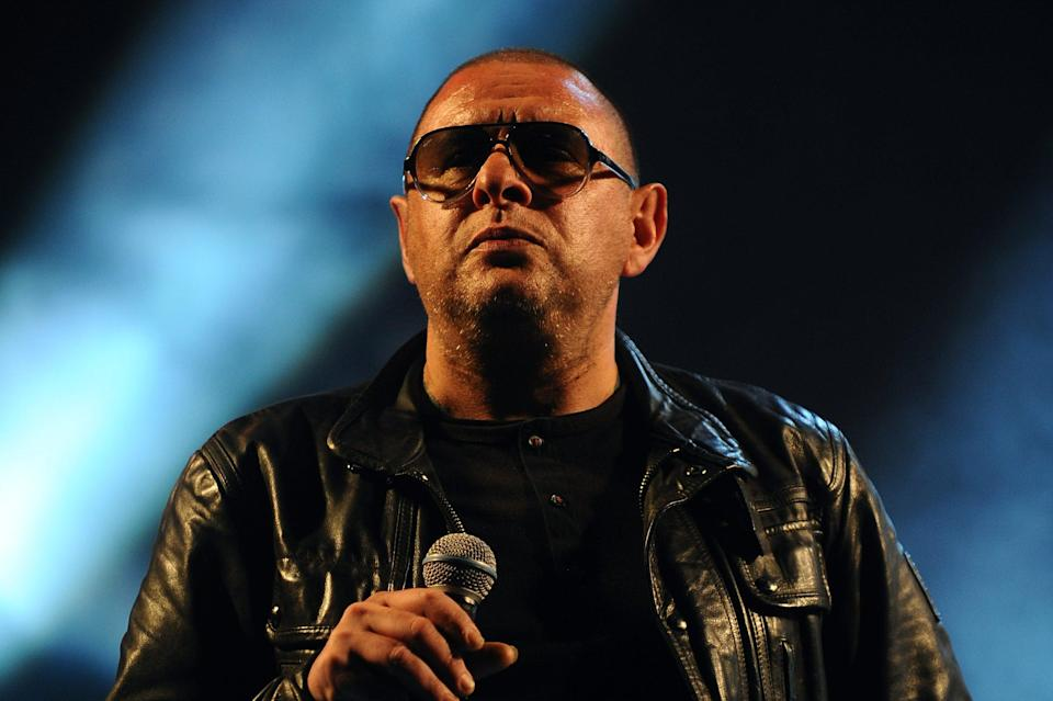 Getting buzzed: Shaun Ryder of the Happy Mondays performs on day 1 of the Isle of Wight Festival at Seaclose Park (Getty Images)
