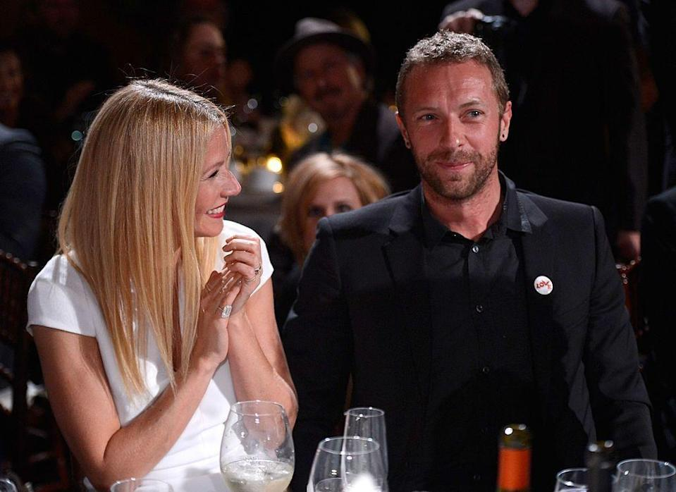 "<p>Gwyneth Paltrow and Chris Martin <a href=""http://people.com/celebrity/gwyneth-and-chriss-secret-wedding/"" rel=""nofollow noopener"" target=""_blank"" data-ylk=""slk:tied the knot"" class=""link rapid-noclick-resp"">tied the knot</a> in a secret ceremony in a Santa Barbara hotel on December 5, 2003. The former couple had two children together: Apple and Moses. The pair separated in March 2014 after over a decade of marriage. </p>"
