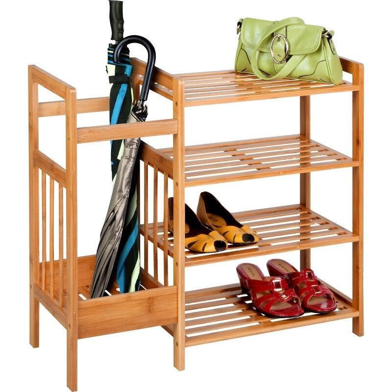 "<h2>Bamboo Entryway 8 Pair Shoe Rack</h2><br><strong>Discount:</strong> 43% off<br><br><strong>The Hype: </strong>4.6 out of 5 stars and 1167 reviews<br><br><strong>Deal Hunters Say: </strong>""This piece works perfectly for our apt. The tall side will be used as a small recycling bin and the shelves are super multi-functional. The bamboo looks nice and everything was easy to assemble. Just as advertised.""<br><br><em>Shop </em><strong><em><a href=""https://fave.co/2HWojis"" rel=""nofollow noopener"" target=""_blank"" data-ylk=""slk:Dotted Line"" class=""link rapid-noclick-resp"">Dotted Line</a></em></strong><br><br><br><strong>Dotted Line</strong> Bamboo Entryway 8 Pair Shoe Rack, $, available at <a href=""https://go.skimresources.com/?id=30283X879131&url=https%3A%2F%2Ffave.co%2F3mBNN3T"" rel=""nofollow noopener"" target=""_blank"" data-ylk=""slk:Wayfair"" class=""link rapid-noclick-resp"">Wayfair</a>"