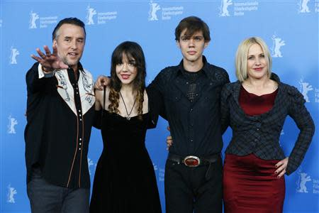 "Director, screenwriter and producer Linklater and cast members Lorelei Linklater, Coltrane and Arquette pose during a photocall to promote the movie ""Boyhood"" during the 64th Berlinale International Film Festival in Berlin"