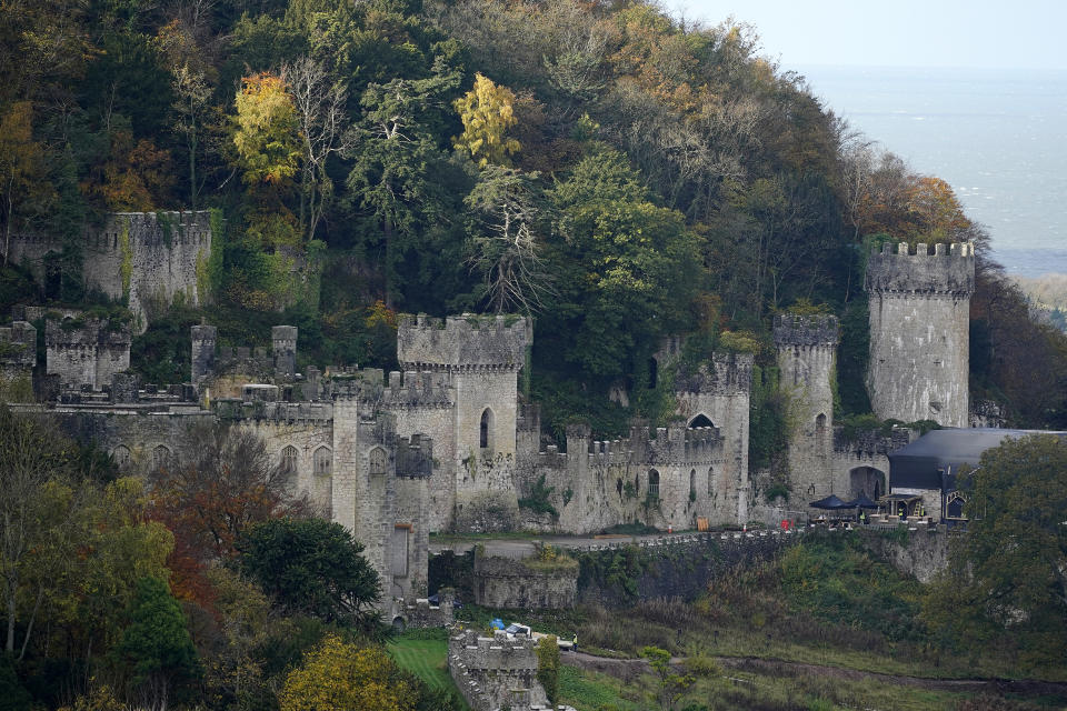 """A view of Gwyrch Castle as it prepares for ITV reality TV show """"I'm A Celebrity Get Me Out Of Here"""" on November 03, 2020 in Abergele, Wales. (Photo by Christopher Furlong/Getty Images)"""