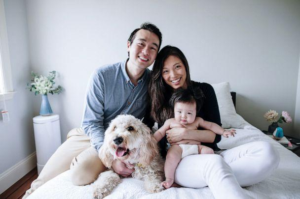 PHOTO: Dr. Helen Mo, her husband and their daughter, Olivia, pose for a picture in their Bay Area home. (ASHLEY KAPLAN PHOTOGRAPHY)