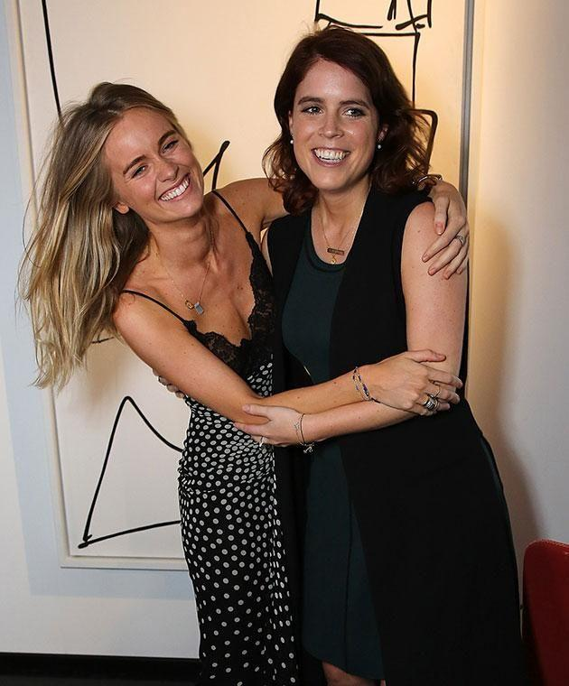 Art-loving Eugenie, pictured here with Prince Harry's ex Cressida Bonas, has revealed her top Pinterest picks. Photo: Getty images