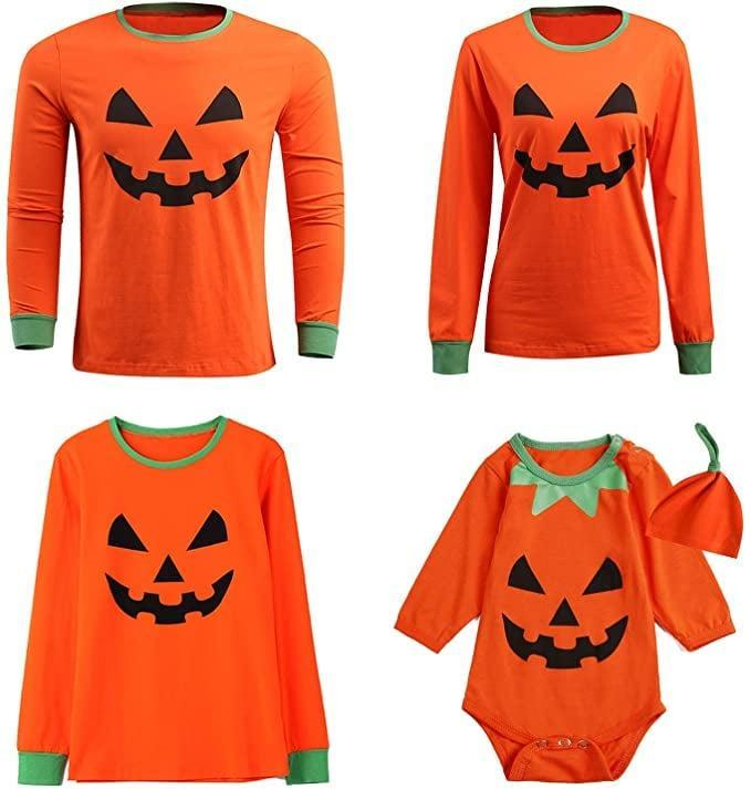 <p>Get in the holiday spirit with these <span>Pumpkin Matching Family Shirts</span> ($9).</p>