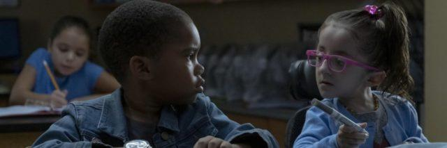 """Esperanza (Sammi Haney) and Dion (Ja'Siah Young) star in the Netflix series """"Raising Dion."""" Sammi has a disability, osteogenesis imperfecta, and uses a wheelchair."""