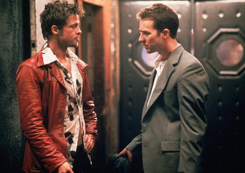 Brad Pitt and Ed Norton in Fight Club.