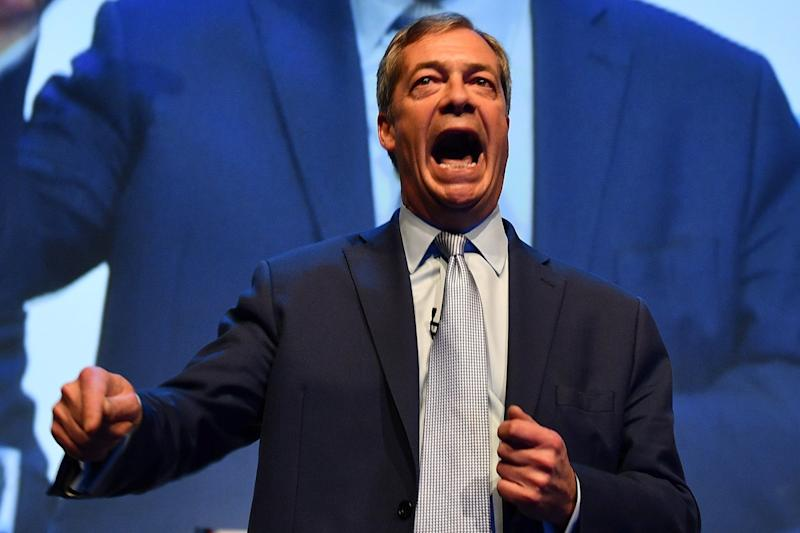 Nigel Farage at a rally for his Brexit Party (AFP/Getty Images)