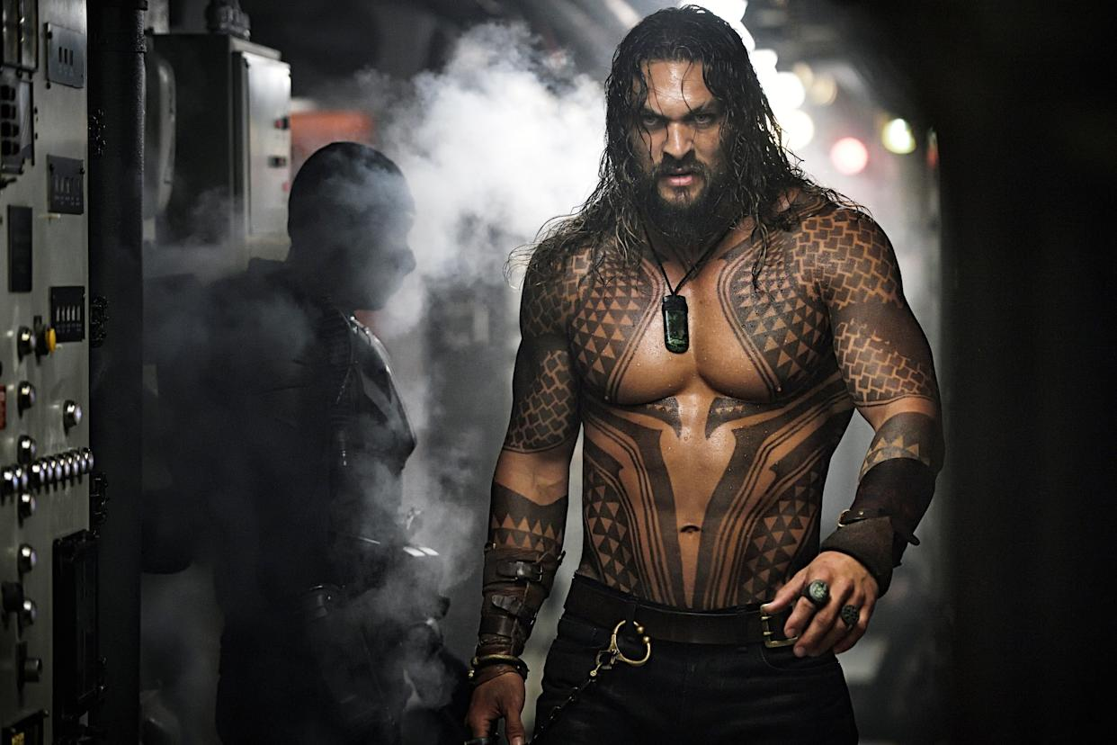 Jason Momoa starred in the wildly successful 'Aquaman' feature film, released over a decade after the fake version seen on 'Entourage' (Photo: Jasin Boland/ © Warner Bros./courtesy Everett Collection)