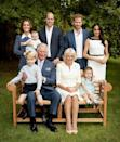 An official family photograph released for Prince Charles's 70th birthday showed him holding his grandson Prince George